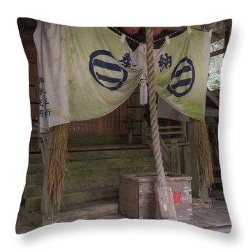 Forrest Shrine, Japan 4 Throw Pillow