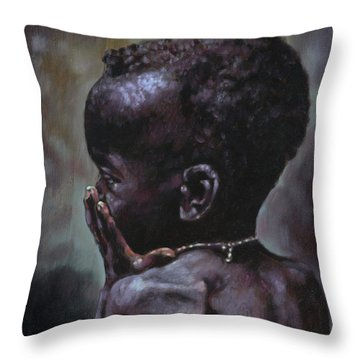 Forsaken Throw Pillow by John Lautermilch