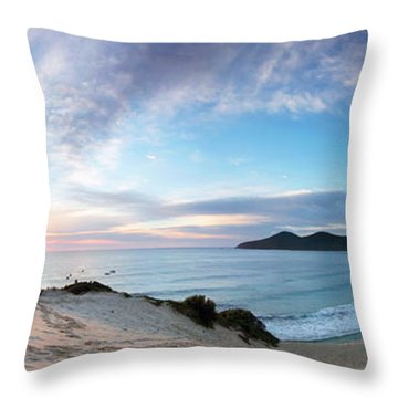 Forster One Mile Beach Throw Pillow
