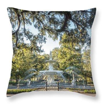 Forsyth Park #2 Throw Pillow