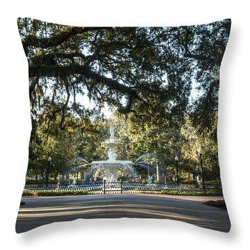 Forsyth Park Throw Pillow