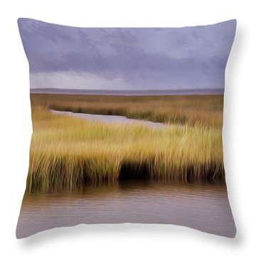 Forsythe By The Sea Throw Pillow