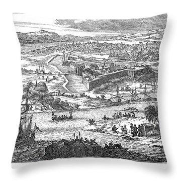 Fort Caroline, 1673 Throw Pillow by Granger