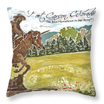 Best Hometown In The Army Throw Pillow
