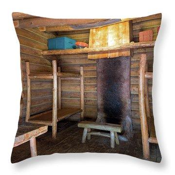 Fort Clatsop Living Quarters Throw Pillow