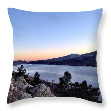 Fort Collins At Sunset Is Such A Throw Pillow