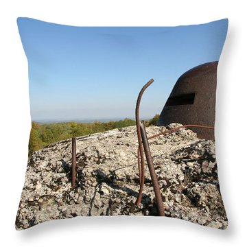 Fort De Douaumont - Verdun Throw Pillow by Travel Pics