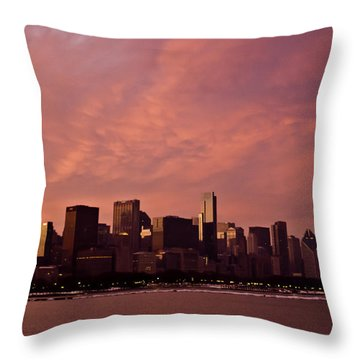 Fort Dearborn Throw Pillow