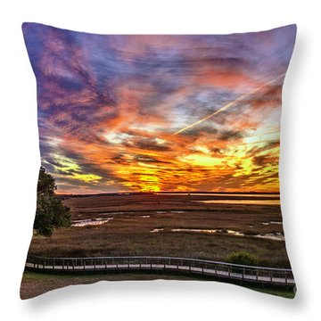 Enlightened Tree Throw Pillow