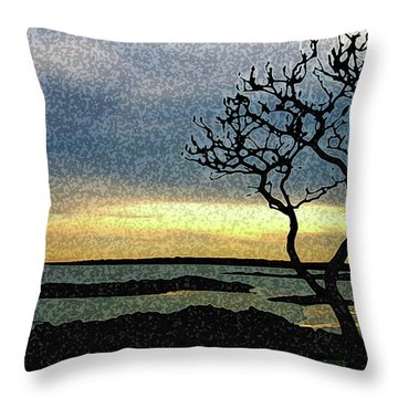 Fort Foster Tree Throw Pillow
