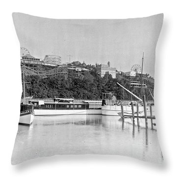 Fort George Amusement Park Throw Pillow by Cole Thompson