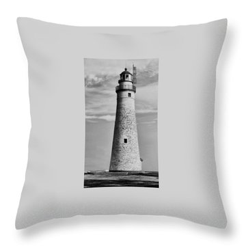 Fort Gratiot Lighthouse Throw Pillow by Pat Cook