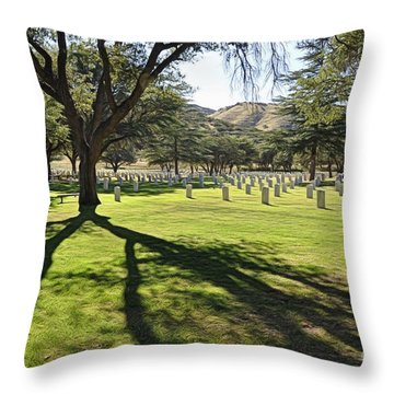 Throw Pillow featuring the photograph Fort Huachuca Post Cemetery by Gina Savage