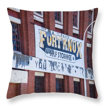 Throw Pillow featuring the photograph Fort Knox by Serene Maisey