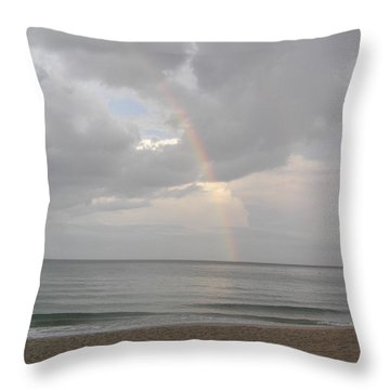 Fort Lauderdale Rainbow Throw Pillow by Patricia Piffath