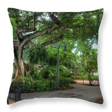 Fort Lauderdale Riverwalk Scenic Throw Pillow