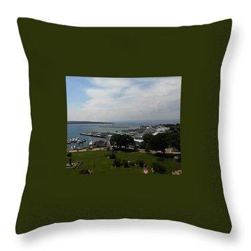 Fort Mackinac Throw Pillow