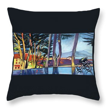Fort Mason Bike Commute Throw Pillow by Colleen Proppe