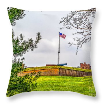 Throw Pillow featuring the photograph Fort Mchenry National Monument  by Nick Zelinsky