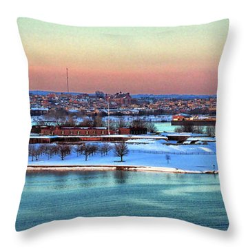 Fort Mchenry Shrouded In Snow Throw Pillow