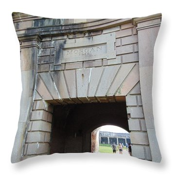 Fort Morgan Throw Pillow