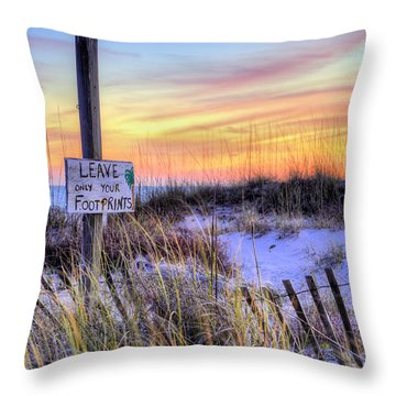 Fort Morgan Sunsets Throw Pillow