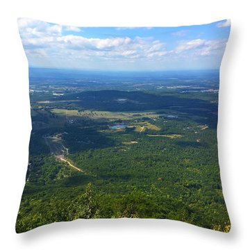 Fort Mountain Throw Pillow