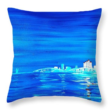 Fort Myers By Night Throw Pillow