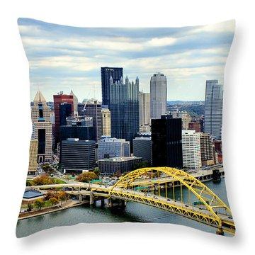 Fort Pitt Bridge Throw Pillow