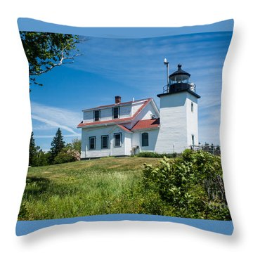 Fort Point Lighthouse  Stockton Springs Me 2  Throw Pillow