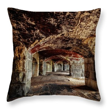 Fort Popham Throw Pillow