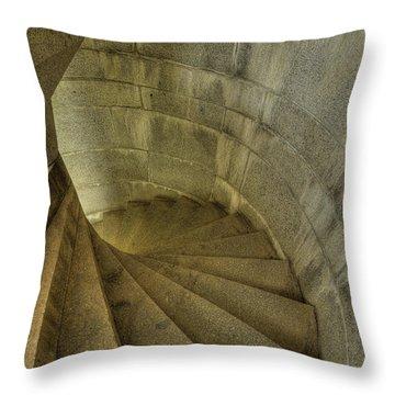 Fort Popham Stairwell Throw Pillow