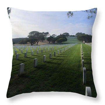 Fort Rosecrans National Cemetery Throw Pillow by Lynn Geoffroy
