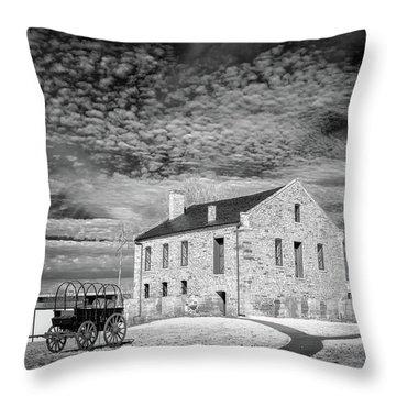 Throw Pillow featuring the photograph Fort Smith Historic Site by James Barber