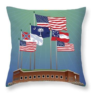 Fort Sumter, Charleston, Sc Throw Pillow