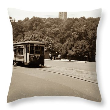 Fort Tryon Trolley Throw Pillow