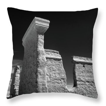 Fort Union Ruins Throw Pillow by James Barber