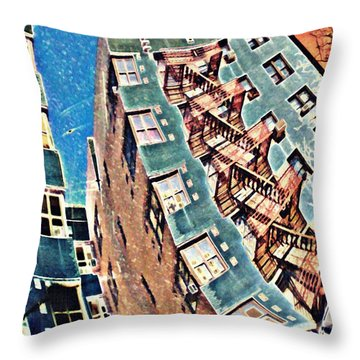 Fort Washington Avenue Building Throw Pillow