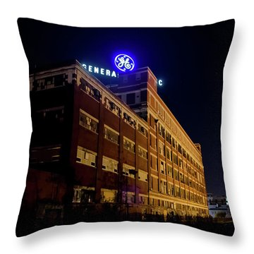 Fort Wayne In Ge Building - Jpmmedia.com Throw Pillow