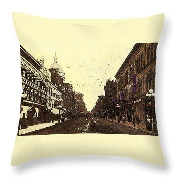 Fort Wayne Indiana 1913 Throw Pillow