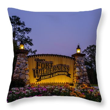 Fort Wilderness Resort And Campground Throw Pillow