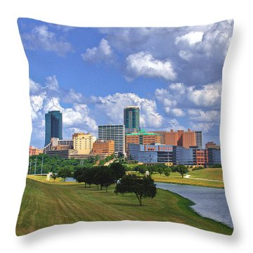 Fort Worth #1 Throw Pillow