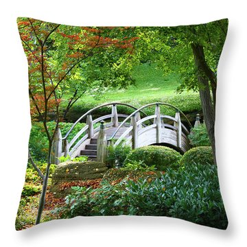 Fort Worth Botanic Garden Throw Pillow by Joan Carroll