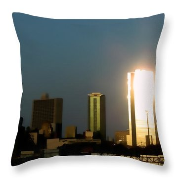 Fort Worth Gold Throw Pillow