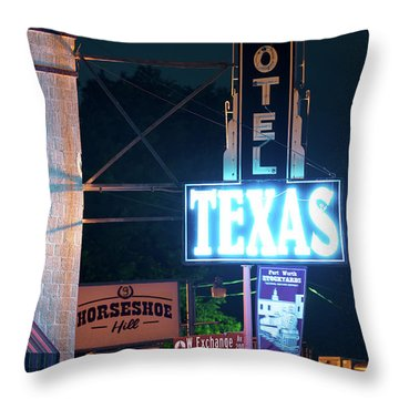 Fort Worth Hotel Texas 6616 Throw Pillow