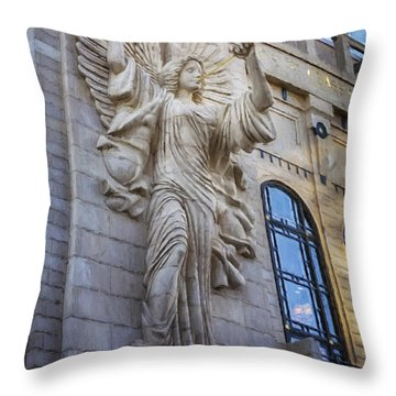 Fort Worth Impressions Bass Hall Angel Throw Pillow