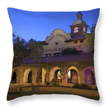 Fort Worth Livestock Exchange Throw Pillow