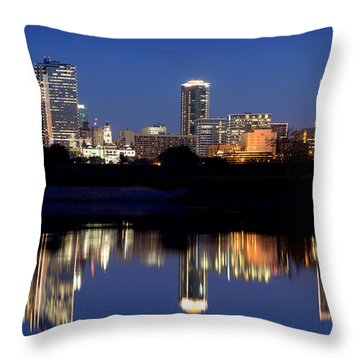 Fort Worth Reflection 41916 Throw Pillow