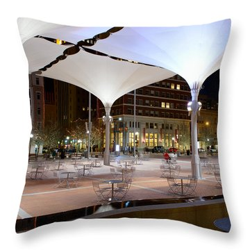 Fort Worth Sundance Square Throw Pillow