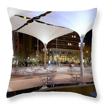 Fort Worth Sundance Square Throw Pillow